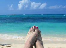 Strandtijd Stock Foto
