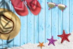 Strandurlaube und entspannen sich Stockfoto
