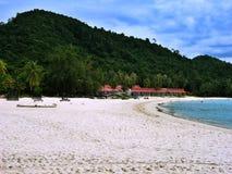 Strandurlaubsort Stockbild
