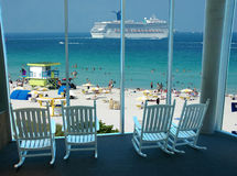 Strandurlaubsort Lizenzfreie Stockfotografie