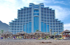 Strandurlaubsort Hotelle Meridien Al Aqah Stockfoto
