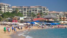 Strandurlaubsort Karibischer Meere, Mexiko Lizenzfreie Stockbilder