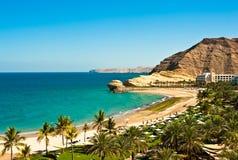 Strandurlaubsort in Oman Lizenzfreies Stockfoto
