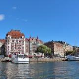 Strandvägen в Стокгольме Стоковое Изображение RF