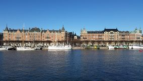 Strandvägen Стокгольма Стоковое Изображение