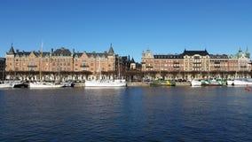 Strandvägen van Stockholm stock afbeelding
