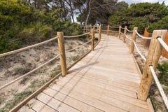 Strandväg till Salinasstranden i Formentera Fotografering för Bildbyråer