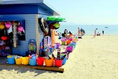 Strandväsentlighet, Weymouth, Dorset, UK Fotografering för Bildbyråer