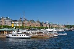 Strandvagen, Stoccolma Fotografia Stock Libera da Diritti