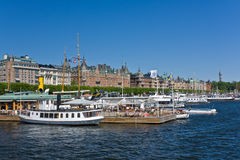 Strandvagen, Stockholm Royalty Free Stock Photography