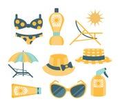 Strandvakantie die Kit Set reizen Stock Foto's