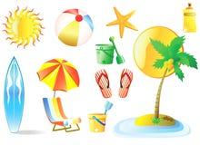 strandvektor stock illustrationer