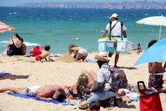 Strandverkäufer Stockfoto