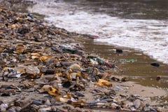 Strandverschmutzung Stockbild