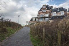 Strandvilla Domburg, Nederländerna Fotografering för Bildbyråer