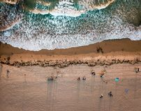Strandvogelperspektive Sans Diego Pacific lizenzfreie stockbilder
