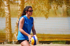 Strandvolleyball Stockbild