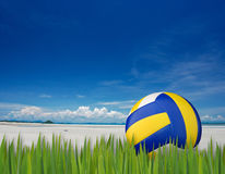 Strandvolleyball stockfotos