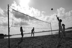 Strandvolleyball 9 Stockfotos