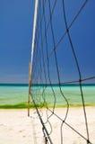 Strandvolleyball netto op Boracay - Filippijnen Stock Foto's