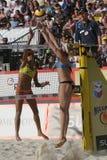 strandvolleyboll Royaltyfria Foton
