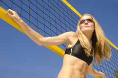 Strandvolleyboll Arkivfoton