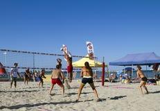 Strandvolleyboll Royaltyfria Bilder