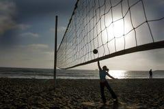 strandvolleyboll Arkivbild