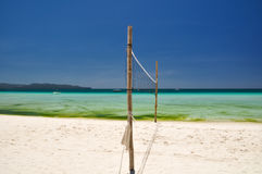 Strandvolleyboll förtjänar på Boracay - Filippinerna Arkivfoton