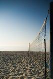 Strandvolleyboll - lodlinje Arkivbilder