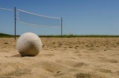 Strandvolleybolldomstol Arkivbild