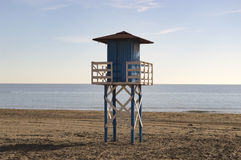 Strandwatchtower Royaltyfria Foton