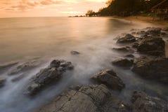 strandwave Royaltyfri Foto