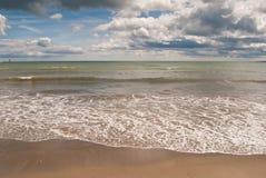strandwaves Royaltyfri Fotografi