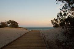 Strandweg nach Cala Liberotto Lizenzfreies Stockfoto