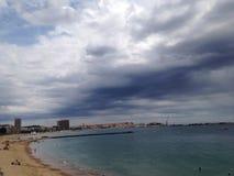 Strandwolken Stock Afbeeldingen