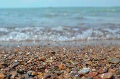 Strandzeewater het kamperen meer stock afbeeldingen