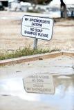 Strandzeichen Lizenzfreie Stockbilder