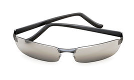 Strandzonnebril met gekleurde glazen op wit 3d royalty-vrije illustratie