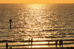 Strandzonsondergang in Florida Royalty-vrije Stock Afbeelding