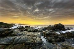 Strandzonsopgang, Zuid-Afrika stock fotografie