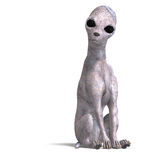 Strange alien dog from area 51 Stock Image