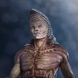 Strange Alien Portrait. Portrait of a very strange alien - 3d render royalty free illustration