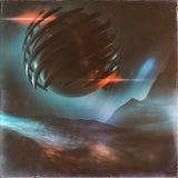 Strange Alien Sphere Concept stock illustration