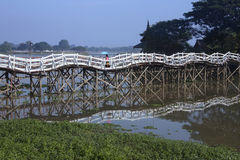 Strange Bridge - Monywa - Myanmar (Burma) Stock Image