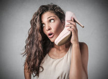 A strange call Royalty Free Stock Photo