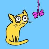 Strange cartoon cat vector illustration Stock Photography