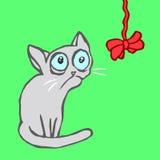 Strange cartoon cat vector illustration Royalty Free Stock Images