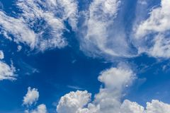 Strange cloud with blue sky. Background Royalty Free Stock Image