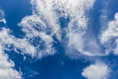 Strange cloud with blue sky. Background Stock Image